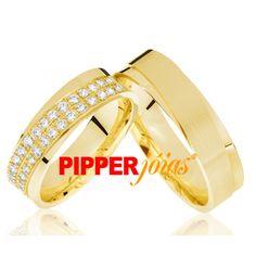 Alianças de Casamento ou Noivado em Ouro 18k - ALM543