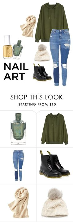 """""""Put a Little Glitter in It"""" by kookiesantana on Polyvore featuring beauty, Topshop, Dr. Martens, Uniqlo, SIJJL and Essie"""
