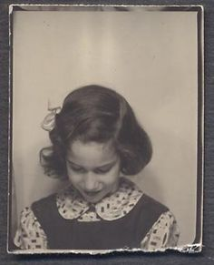 ** Vintage Photo Booth Picture **  Shyness