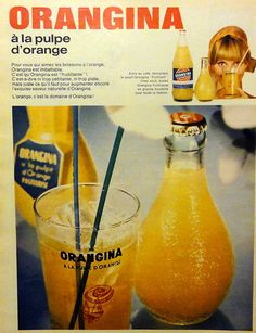 Vintage ad for french Orangina from 1968 #vintagead #vintageads