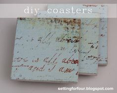 DIY coasters using scrapbook paper - an easy and quick project, and great for gifts!
