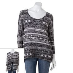 Mason and Mackenzie Button-Back Lightweight Sweater - Juniors (kohls)