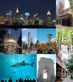 Atlanta - my favorite southern city. The 2 years I lived here are cherished memories Vacation Places, Best Vacations, Vacation Destinations, Vacation Trips, Oh The Places You'll Go, Places Ive Been, Places To Visit, Southern Pride, Montages
