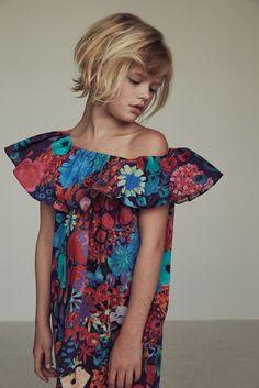 Evangeline Dress - Tropical Flowers
