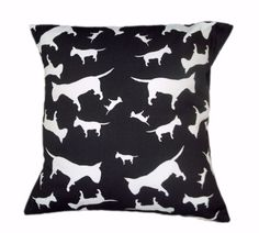 English Bull Terrier EBT Silhouette Breed Specific Dog Cushion And Cover Black English Bull Terriers, Bull Terrier Dog, Dog Cushions, Dog Silhouette, Cushion Pads, Silhouettes, Throw Pillows, Black And White, Cover