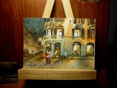 Check out this item in my Etsy shop https://www.etsy.com/sg-en/listing/209689530/sale-peinture-miniature-wall-art-italy