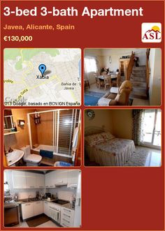 3-bed 3-bath Apartment in Javea, Alicante, Spain ►€130,000 #PropertyForSaleInSpain