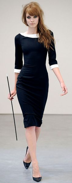 L'Wren Scott dress in black and white
