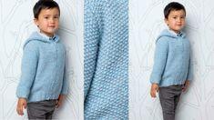 Tricot gratuit : le gilet à capuche pour enfant : Femme Actuelle Le MAG Leg Warmers, Legs, Knitting, Dresses, Gillet, Pull Bleu, Laetitia, Chenille, Recherche Google