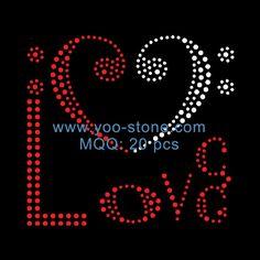 Love Heart Iron On Transfer For Girl Dresses