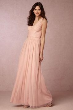 BHLDN Edith Dress Size 2 Hitherto Wedding Taupe Rose Tulle $240 NWT