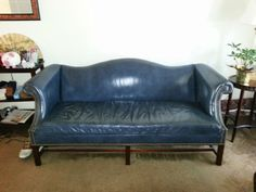 Leather Chippendale Leg Sofa From Hancock Amp Moore 900