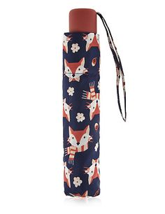 Fox Print Umbrella with Stormwear™ | M&S