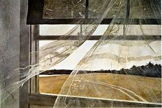 Andrew Wyeth lived in my hometown when I was young. We had several Wyeth prints in our home. Betsy Wyeth (wife) used to stop by my parents antique store - 13 Colonies Village Store - on Rt. 1. She even signed a Wyeth art book my Mom had. Always have loved his work.