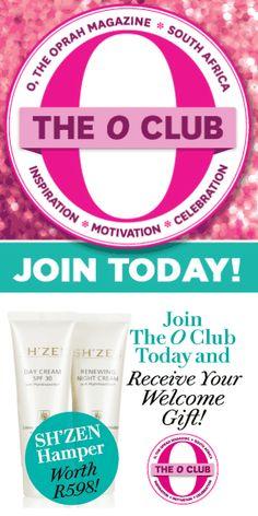 Join the O Club during the month of April and get a free Sh'Zen Hamper :) Oprah, Hamper, Zen, Club, Motivation, Determination, Basket, Inspiration