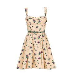 Cotton Couture Rose Sun Dress (22.065 RUB) ❤ liked on Polyvore featuring dresses, vestidos, casual dresses, floral, women, midi dress, sun dress, floral sundress, full midi skirt and vintage sun dress