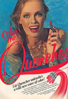 1981. Lip Quenchers by Chap Stick - The silver tube that was so attractive to me and this ad.  Had to have it!!