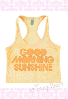 GOOD MORNING SUNSHINE- workout racer back Tank Top- Cute workout gear on Etsy, $25.00