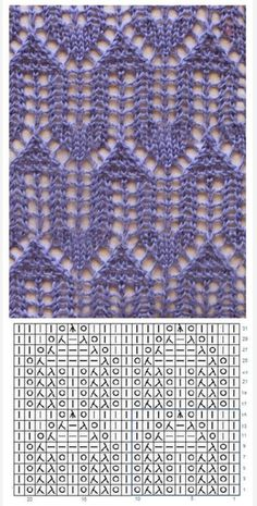 Lace Knitting Stitches, Lace Knitting Patterns, Lace Patterns, Knitting Socks, Stitch Patterns, Crochet Motif, Knit Crochet, Vogue Knitting, How To Purl Knit