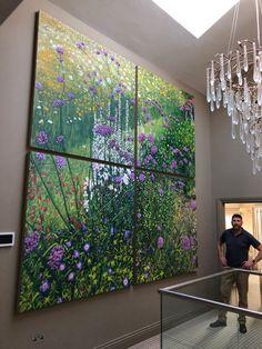 Painting of the garden. Oil on linen. Oil Painting On Canvas, Paintings, Garden, Artist, House, Garten, Home, Painting Art, Gardening