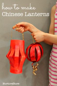 How to make Chinese lanterns - NurtureStore How to make Chinese lantern - two easy Chinese New Year crafts for kids Should you love arts and crafts you actually will appreciate this site! Chinese New Year Crafts For Kids, Chinese New Year Activities, Chinese New Year Party, Chinese Crafts, New Years Activities, Art For Kids, China For Kids, Chinese New Years, Around The World Crafts For Kids