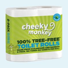 100% tree free toilet rolls, great for the environment and the budget! And they are 3 Ply for extra softness