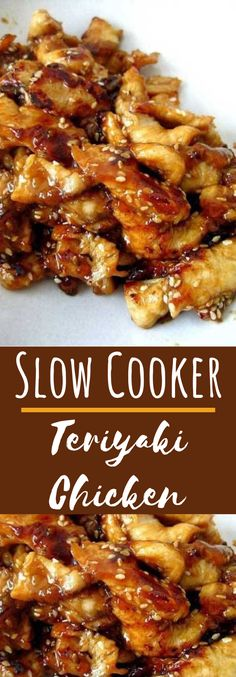 Serve this Slow Cooker Teriyaki Chicken over rice, you don't want any of that delicious, sticky sauce going to waste. And because we are all trying to be healthier this time of year make sure to serve lots of fresh. Crock Pot Recipes, Meat Recipes, Slow Cooker Recipes, Freezer Recipes, Freezer Meals, Drink Recipes, Slow Cooker Huhn, Crock Pot Slow Cooker, Slow Cooker Chicken
