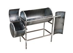 Steaks, burgers and hot dogs are grilled. True BBQ is a different art form altogether. Here's how to build your own smoker. Diy Smoker, Homemade Smoker, Metal Projects, Welding Projects, Welding Ideas, Outdoor Projects, Metal Fab, Wood And Metal, Bar B Que Pits