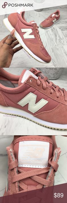 NEW BALANCE Shoes 220 Core Classic ☺️ BRAND NEW without box 📦💕 READY TO SHIP  NEW BALANCE Shoes 220 Core Classic  100% Authentic  Women's Sneaker   Color : Pink + Ivory Size:  7  Feminine and sporty.   [also check out my other listings for more great NIKE, JORDAN and ADIDAS sneakers for women. Variety of sizes]  💕 Lots of Love New Balance Shoes Sneakers