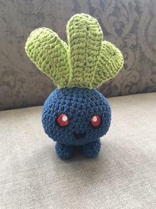 myrapla anleitung oddish free pattern häkeln crochet pokemon amigurumi