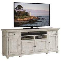 Lexington Home Entertainment Oyster Bay Kings Point Large Media Console Entertainment Wall, Entertainment Furniture, Entertainment Centers, Entertainment Products, Tv Stand Furniture, Hooker Furniture, Furniture Storage, Furniture Redo, Repurposed Furniture