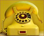 Old yellow phone..
