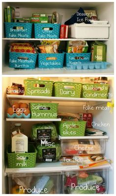 Fridge Storage Solutions for busy moms will guide with organization ideas and tips and tricks to make use of space inside a fridge, refrigerator or freezer Freezer Organization, Organization Station, Kitchen Organization, Refrigerator Organization, Clutter Control, Refrigerator Freezer, Kitchen Storage, Storage Solutions, Organising