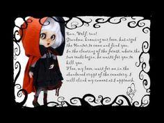"OOAK Custom Blythe doll  ""Little Dark Riding Hood"" (Dark) by Noemi Pascual - YouTube"