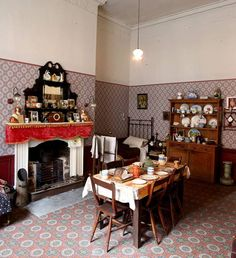 A replica flat at 14 Henrietta Street is crammed with the bric-a-brac of tenement family life. Photo: Marc O'Sullivan New Museum, Life Photo, Family Life, Dublin, Ireland, Table Settings, Flat, History, Street