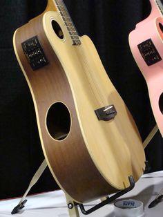 Boulder Creek Guitar's unique top sound hole design