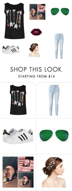 """""""Cool, Calm, and Casual (Hanging with Ari)"""" by elizabethsimmons-2 on Polyvore featuring Frame, adidas, Victoria Beckham and Jennifer Behr"""