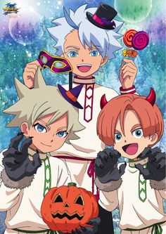 Halloween Poster, Inazuma Eleven Go, Boy Art, Spiderman, Japan, Cartoon, Drawings, Level 5, Emoji