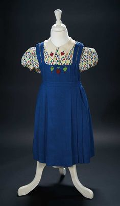 "Love, Shirley Temple, Collector's Book: 461 Blue Jumper and Blouse, Heart Design Worn by Shirley Temple in ""Just Around the Corner"""
