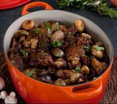 Coq au Vin #recipe, serves 8-10. #LeCreusetHolidayEntertaining