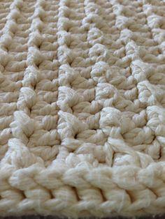 Thirsty Twists bath rug crochet pattern.