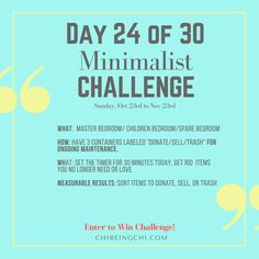 Intro to Minimalism with an easy 30 Day Self Pace Challenge. Ready to live a simpler life with less stuff and more brain and home space for other important things? Grab your free intro to minimalism EBooklets to start now http://eepurl.com/clK9nj