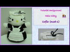 Tutorial amigurumi Hello Kitty - Escoba (mod-1) - YouTube