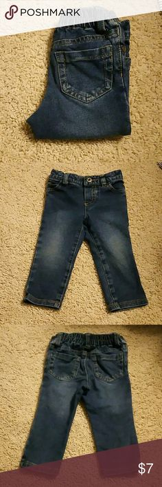 Children's Place Jeans 12 months Faded look Button on front, no zipper stretchy waist Children's Place Bottoms Jeans