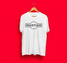 Martian  Martini inspired men's screen print by yoinkprintshop