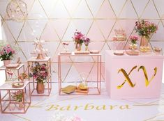 15th Birthday Decorations, Wedding Decorations, Table Decorations, Birthday Makeup, Makeup Box, Quinceanera, Ideas Para, Happy Birthday, Engagement