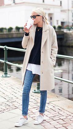http://chicerman.com  casualboys:  Cream coat woman  #menscasual