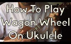 How To Play Wagon Wheel on Ukulele - Old Crow - Darius Rucker - Ukulele Song Tutorial For Beginners Cool Ukulele, Ukulele Chords, Ukulele Tabs, Piano Lessons, Guitar Lessons, Guitar Tips, Music Lessons, Ukulele Songs Beginner, Uke Songs