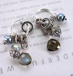 earrings labradorite earrings hoop earrings gray earrings