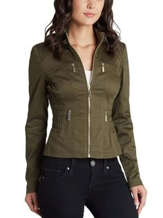 GUESS Pallus Jacket Witchcraft Green $49 SHIPS FREE BEACH HIPPIE (Patent Pending) Ladies Clothing KIOSKS IN NJ AND & NY ♥ ♥ ♥ AUTHENTIC TOP BRANDS♥ ♥ ♥ OUR PRICES ARE THE BEST!...GUARANTEED! ♥ ♥ ♥